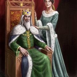 Пазл онлайн: Королевская пара