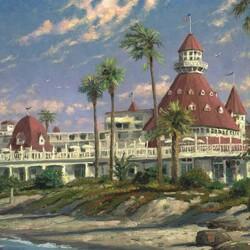 Пазл онлайн: Отель на побережье