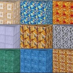 Пазл онлайн: Кубический рисунок