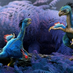 Пазл онлайн: Динозаврики