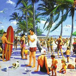 Пазл онлайн: Калифорнийский пляж