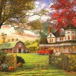Пазл онлайн: Старая ферма