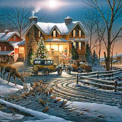 Пазл онлайн: Подарки к Рождеству