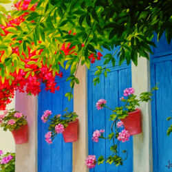 Пазл онлайн: Синие окна