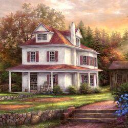Пазл онлайн: Фермерский дом