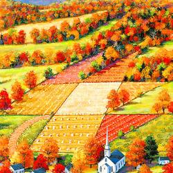 Пазл онлайн: Клены Вермонта