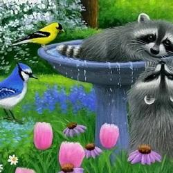 Пазл онлайн: Питьевой фонтанчик