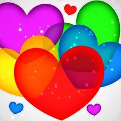 Пазл онлайн: Сердца