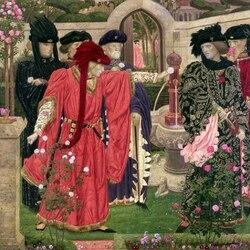 Пазл онлайн: Выбор красной и белой розы