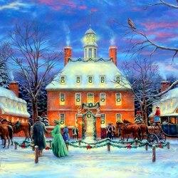 Пазл онлайн: Рождественский бал