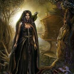 Пазл онлайн: Лесная колдунья