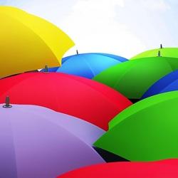 Пазл онлайн: Зонтики