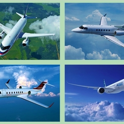 Пазл онлайн: Белый самолёт