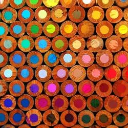 Пазл онлайн: Цветные грифеля