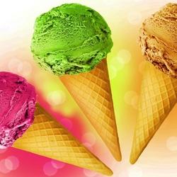Пазл онлайн: Рожки с мороженым