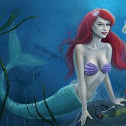 Пазл онлайн: Маленькая русалка