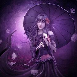 Пазл онлайн: Лиловый дождь