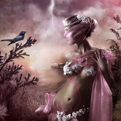 Пазл онлайн: Розовая гроза