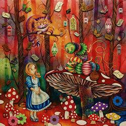 Пазл онлайн: Алиса встречает гусеницу