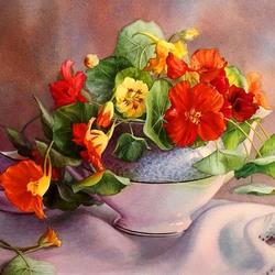 Пазл онлайн: Сад цветет