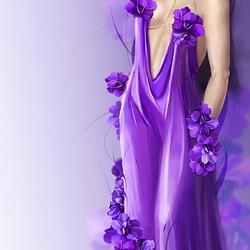 Пазл онлайн: Фиолетовые цветы