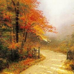 Пазл онлайн: Осенний переулок