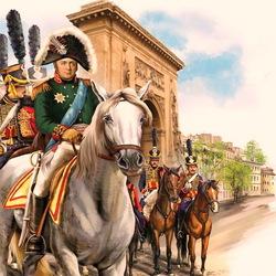 Пазл онлайн: Александр I вьезжает в Париж