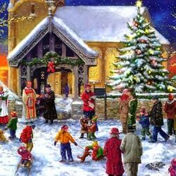 Пазл онлайн: Рождественский хор