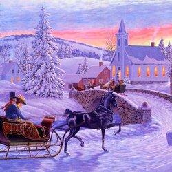 Пазл онлайн: Старое Рождество