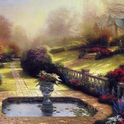 Пазл онлайн: Осенний сад