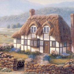 Пазл онлайн: Деревенский домик