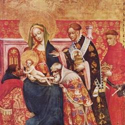 Пазл онлайн: Поклонение волхвов 1420 г.
