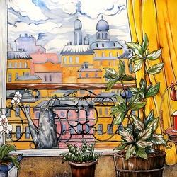 Пазл онлайн: Окно в Париж