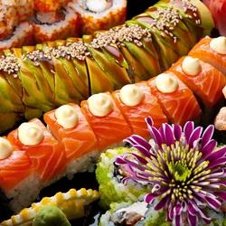 Пазл онлайн: Суши, роллы