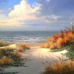 Пазл онлайн: И берег моря золотой