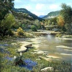 Пазл онлайн: На берегу реки