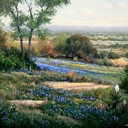 Пазл онлайн: Цветущая долина
