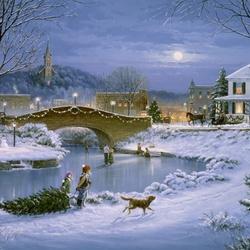 Пазл онлайн: Вечер перед Рождеством