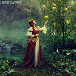 Пазл онлайн: Золотые яблоки