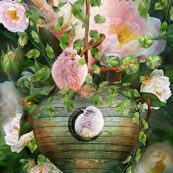 Пазл онлайн: Домик в розах