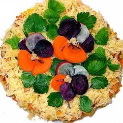 Пазл онлайн: Украшение из овощей