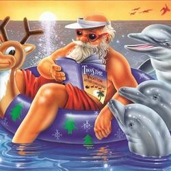 Пазл онлайн: Каникулы Санта Клауса
