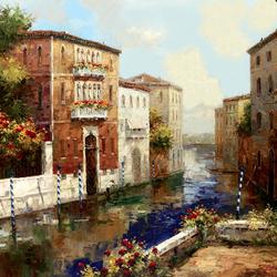 Пазл онлайн: Улица Венеции