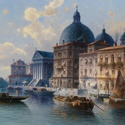 Пазл онлайн: Канал в Венеции, Италия