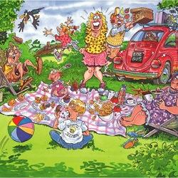 Пазл онлайн: Паника на пикнике