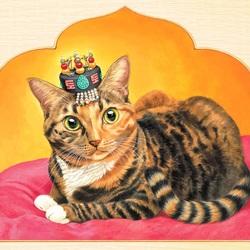 Пазл онлайн: Королевский кот