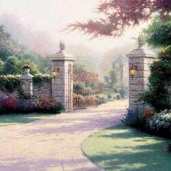 Пазл онлайн: Открытые ворота