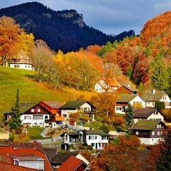 Пазл онлайн: Швейцарская деревня
