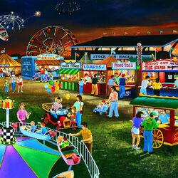 Пазл онлайн: Вечер на окружной ярмарке