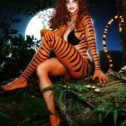 Пазл онлайн: Тигра
